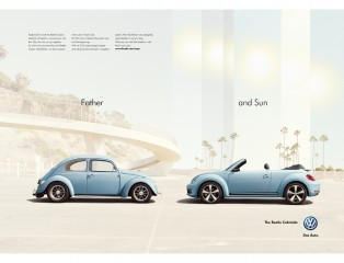 50 Nick Meek VW Beetle Cabriolet Father and Sun