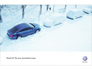 Nick Meek VW Passat CC Snow