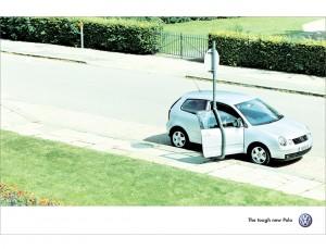 Nick Meek VW Polo Tough Lampost